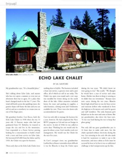 Echo Lake Chalet Story 1st page Image